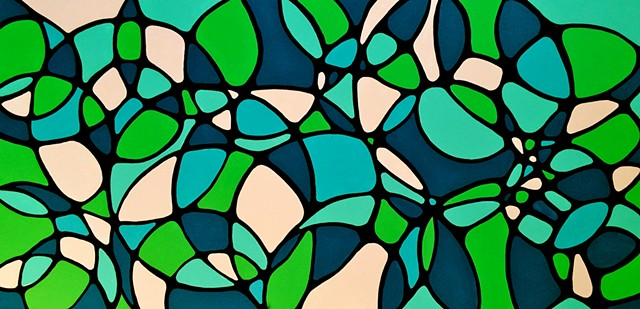 contemporary abstract art, modern, blue, green, copper, contemporary art, abstract, san diego, san diego artist, affordable art, bright, colorful, non-representational abstract art