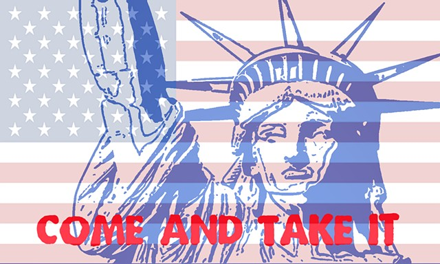American Flag Remix Come and Take It