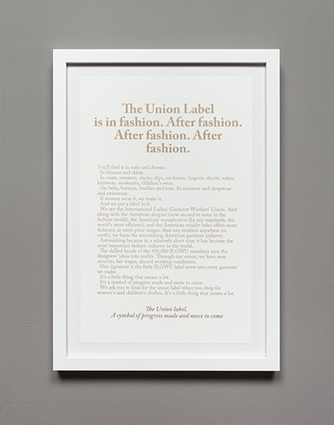 New Demands? The Union Label is in Fashion