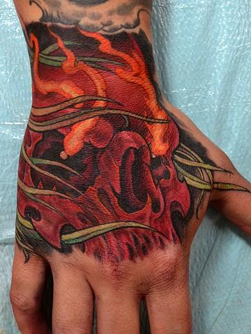 custom hand tattoo