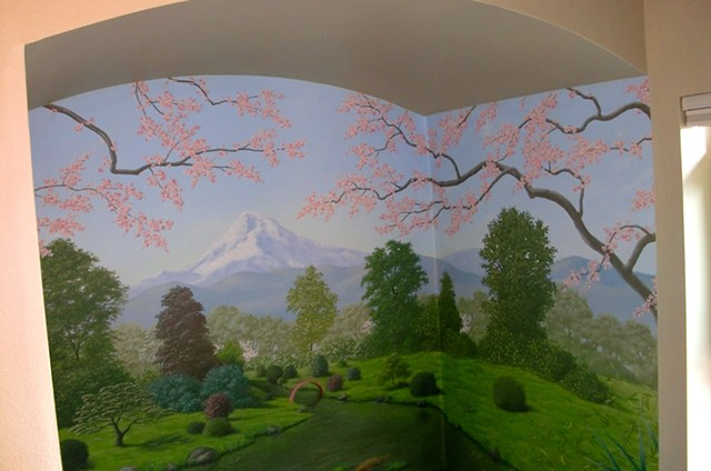 Bathroom Japanese Garden Mural