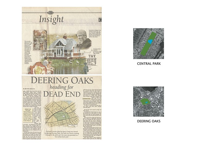 Article on making Deering Oaks Park Portland Maine's Central Park.