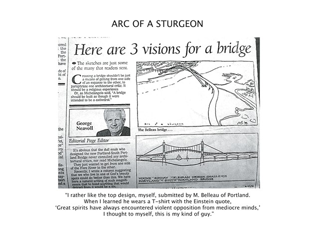 Casco Bay Bridge Sketch.