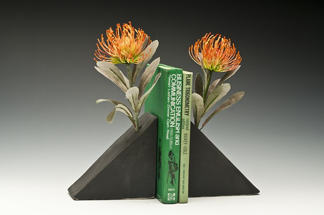 bookends, flower holder