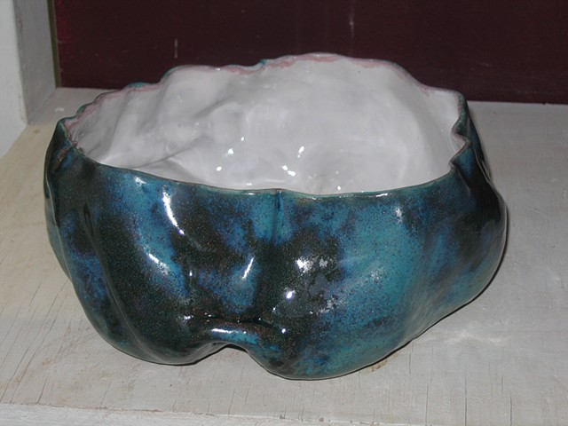 Large shallow lumpy bowl First state
