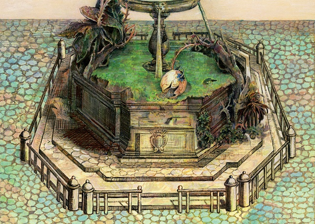 Green Fountain (Detail 2)