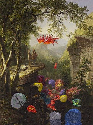 Shawn Bitters, Asher Brown Durand, Hudson River School, Landscape, painting, digital print, screenprint, serigraph, silkscreen