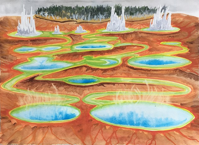 Shawn Bitters, landscape, geological systems, unnatural