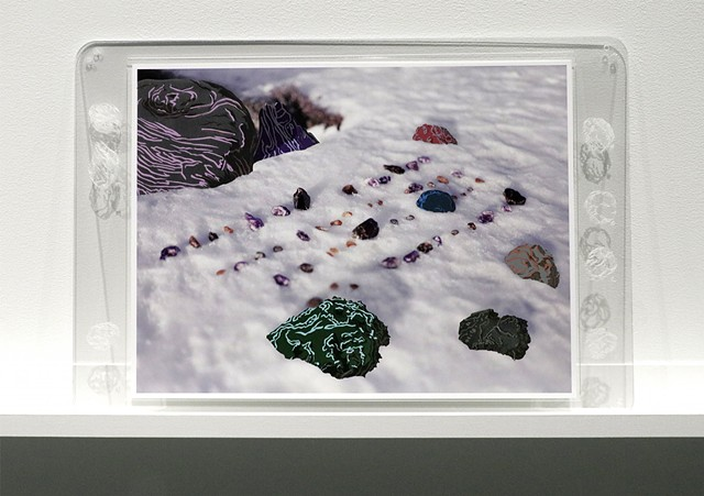 Shawn Bitters, screenprint, photograph, volcanic exclamations, holuhraun, volcanic bombs