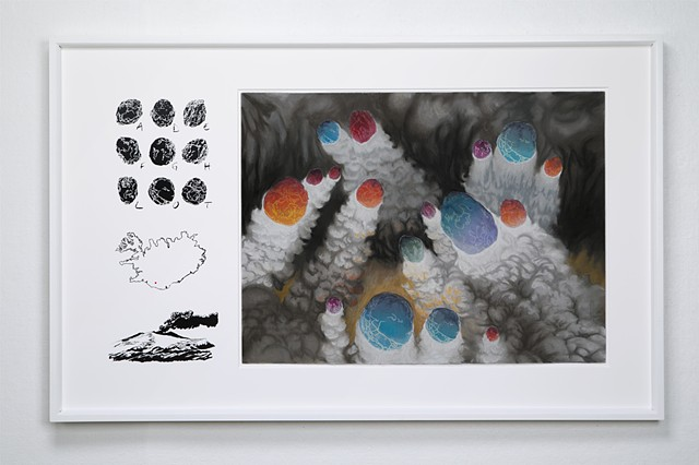 shawn Bitters, Screen Printing, Prints, volcanic bombs, iceland, eyjafjnallajokull, Holuhraun, Planthouse, Only by Night
