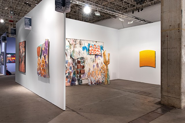 Denny Dimin Gallery's booth at EXPO Chicago