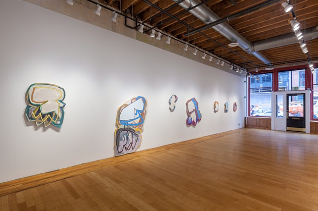 "Installation view of ""Robert Burnier & Justine Hill"" at David B. Smith Gallery"