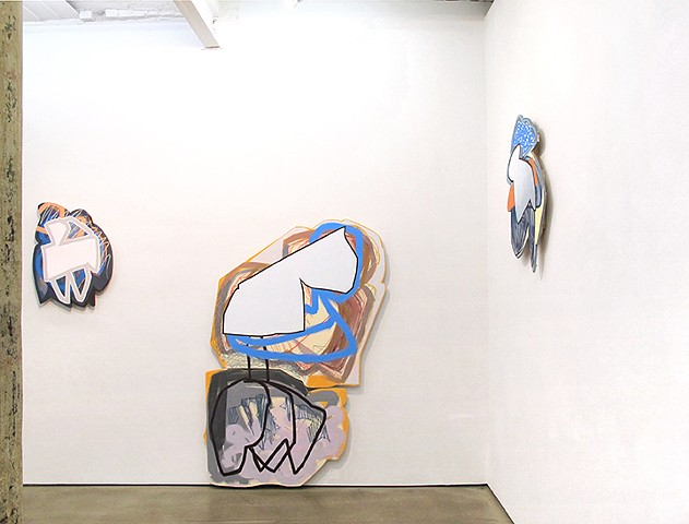 "Installation view of ""They Just Behave Differently"" at Denny Gallery"