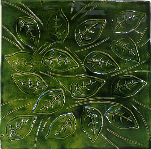 SOLD - Leaves-2 12x12 Leaf Green