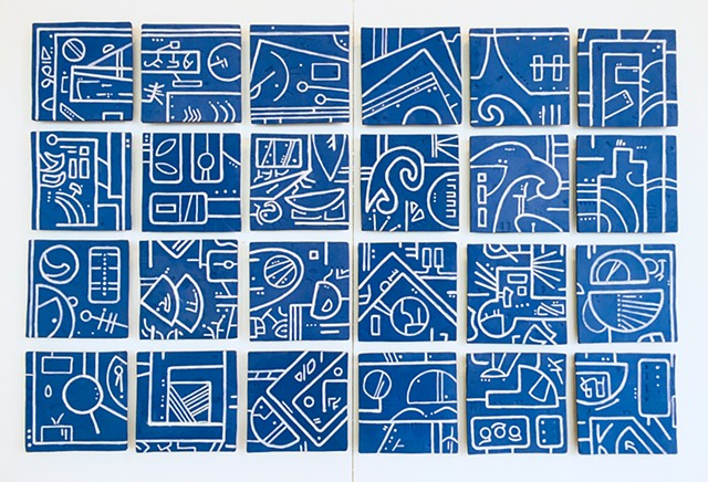 porcelain ceramic tile mural blueprint image abstract