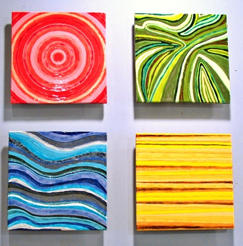 "SOLD Four Months - 4 12""x12"" tiles"