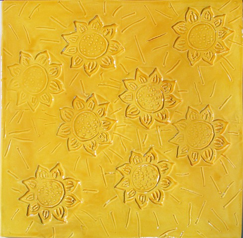 SOLD Sunflowers 12x12 Yellow