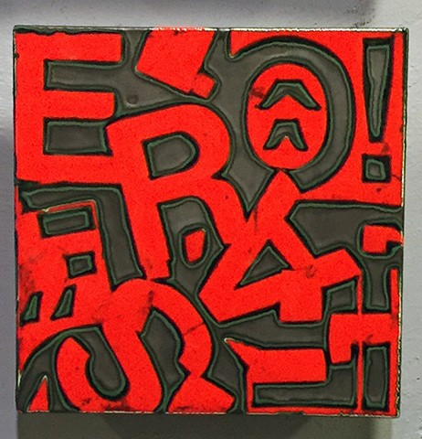 Red Letters 8x8 - Tile A
