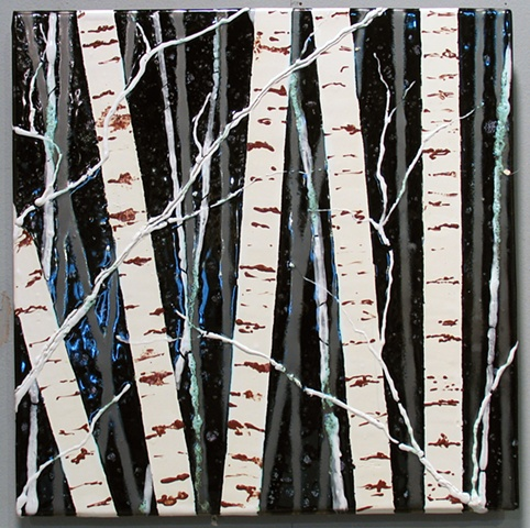 "SOLD Winter Woods 12""x12"""
