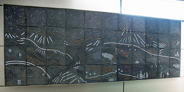 Tile mural for CTA IMD Blue Line in Chicago