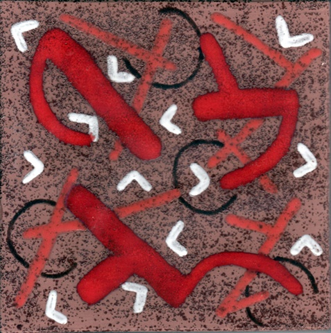 SOLD - Red Outbreak - 8x8