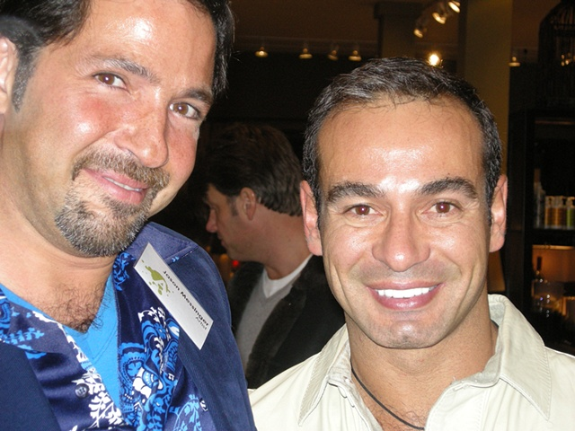 Artist Jason Messinger (left) and artist/gallery owner Jorge Busta - photo credit Isreal Wright