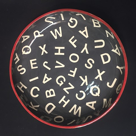 SOLD Alphabet bowl - 1