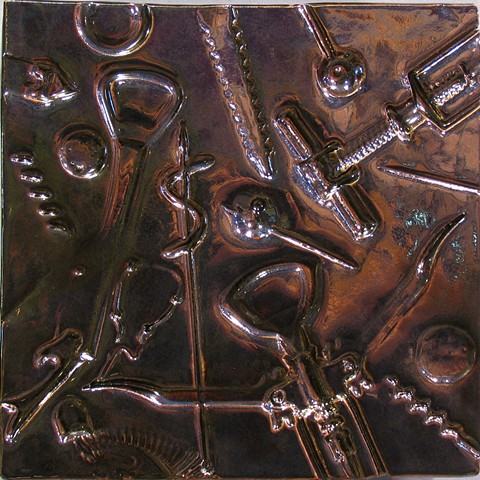 "Bar Tools Bronze 8""x8"""