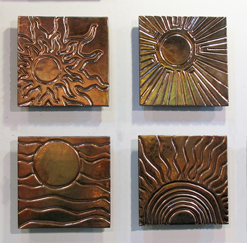 SOLD Suns - 4 12x12 Tiles