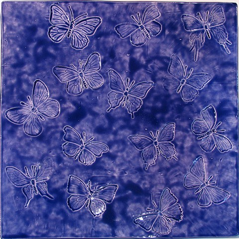SOLD - Butterflies 12x12 Larkspur