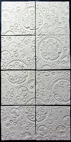 SOLD White Gears - 8 - 8x8 tiles