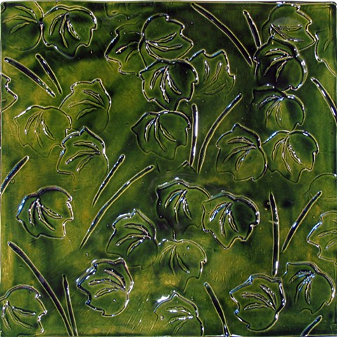 SOLD - Leaves 12x12 Leaf Green