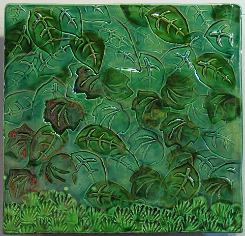 "Mottled Leaves 12""x12"""