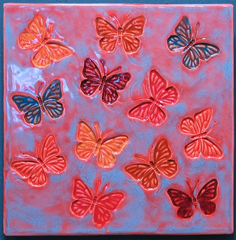 "Butterfly Sunset II 12""x12"""