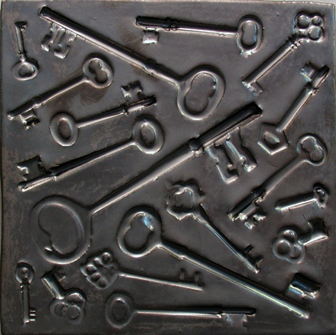 "Keys Pewter 8""x8"""