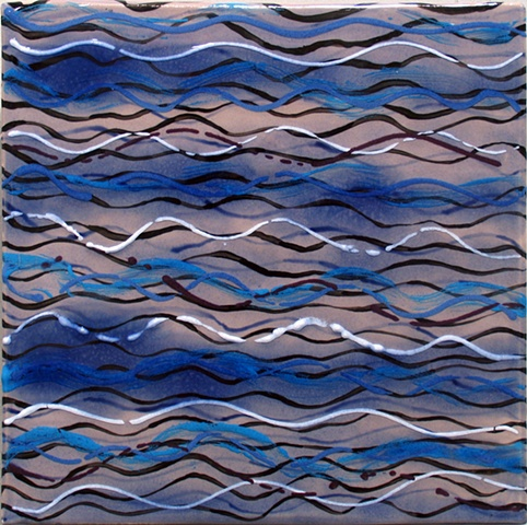 "SOLD - Water I, 8""x8"" tile"