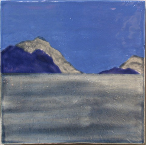 "Lake and Mountains 12""x12"""