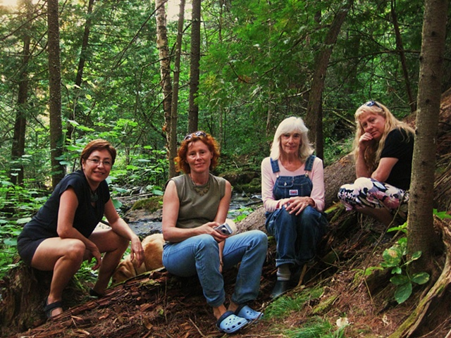 Here by the waterfall, getting inspired with Ewa Bartosz-Mazus from Polandm Thoma Ewen and Krystyna Sadej