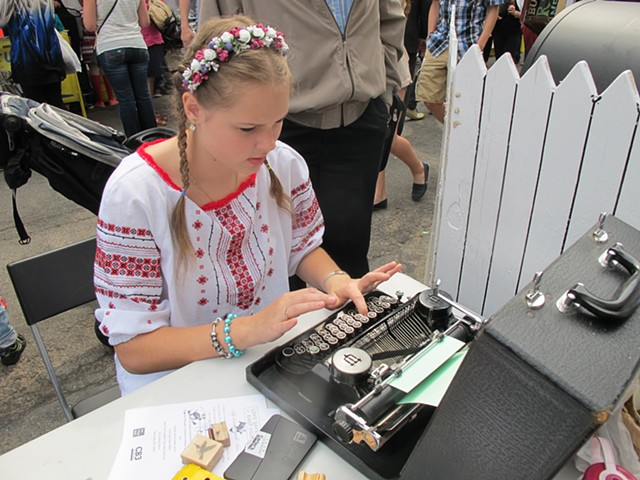 Typewritten Tales, Ukrainian Festival, E. 7th Street, East Village, Lower East Side History Month, May 2015