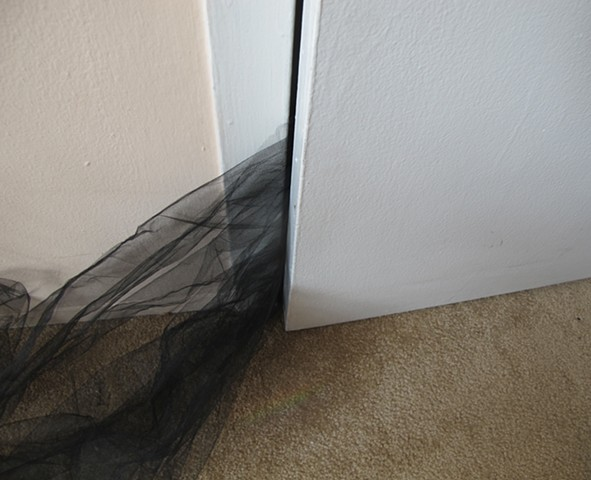 tulle stuck in door
