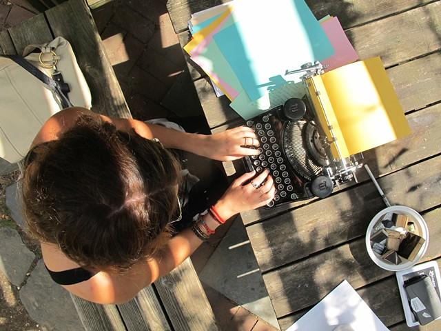 Typewritten Tales, LUNGS Festival, 6th & B Garden, East Village, September 2014