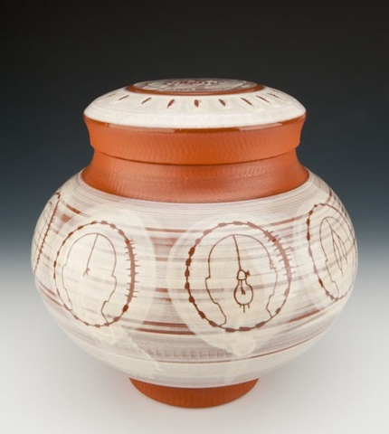 """Medicine Man"" (lidded jar), view 1"