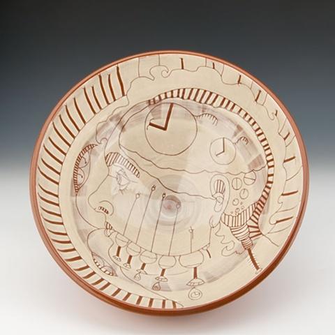 """Clock Maker"" (large bowl), view 2"