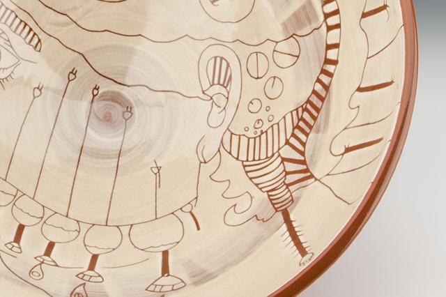 """Clock Maker"" (large bowl), view 3"