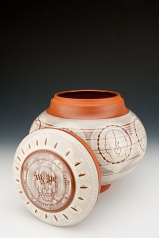 """Medicine Man"" (lidded jar), view 3"