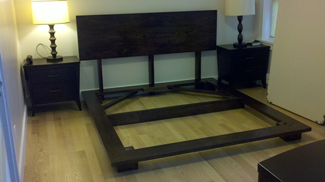 Platform Bed with Stain