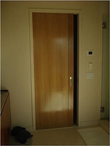 Quarter Sawn Oak Pocket Door
