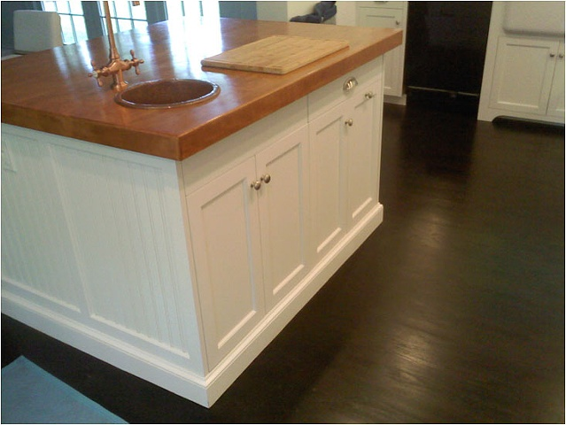 Island in Shaker Style Kitchen