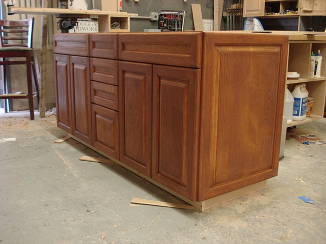 Full Overlay Cherry Vanity