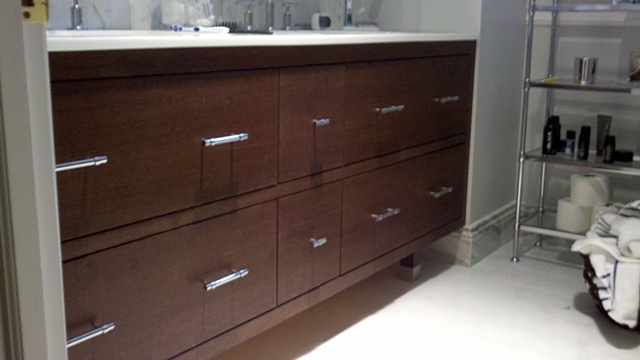 Contemporary Wenge Wood Vanity